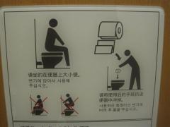 Toalettinstruktion i Tokyo
