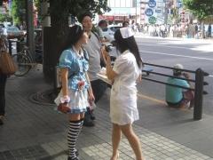 Reklamflickor i Akihabra
