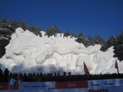 Enorm snöskulptur