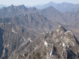 Jiankou sett från Zhengbeilou