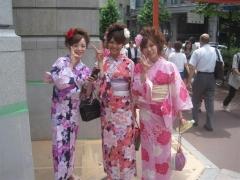 Med kimono i Kyoto i 35 gradig hetta