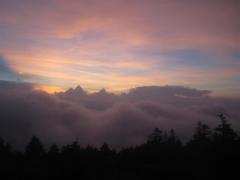 Solnedgång sedd från Mr Fuji