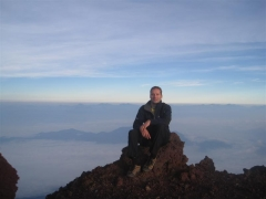 Toppen av Mt Fuji