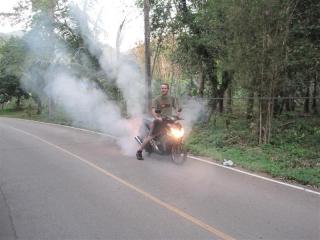 Burnout med scooter