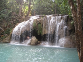 Erawanfallen, Thailand